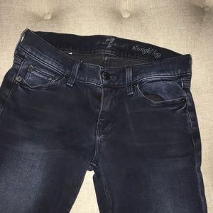 7 For All Mankind dark straight leg jeans